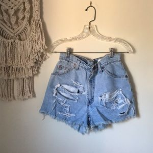 Levi's Denim Distressed Shorts